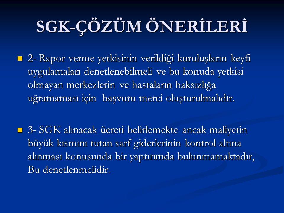 SGK-ÇÖZÜM ÖNERİLERİ