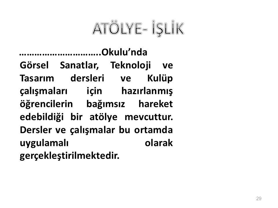 ATÖLYE- İŞLİK
