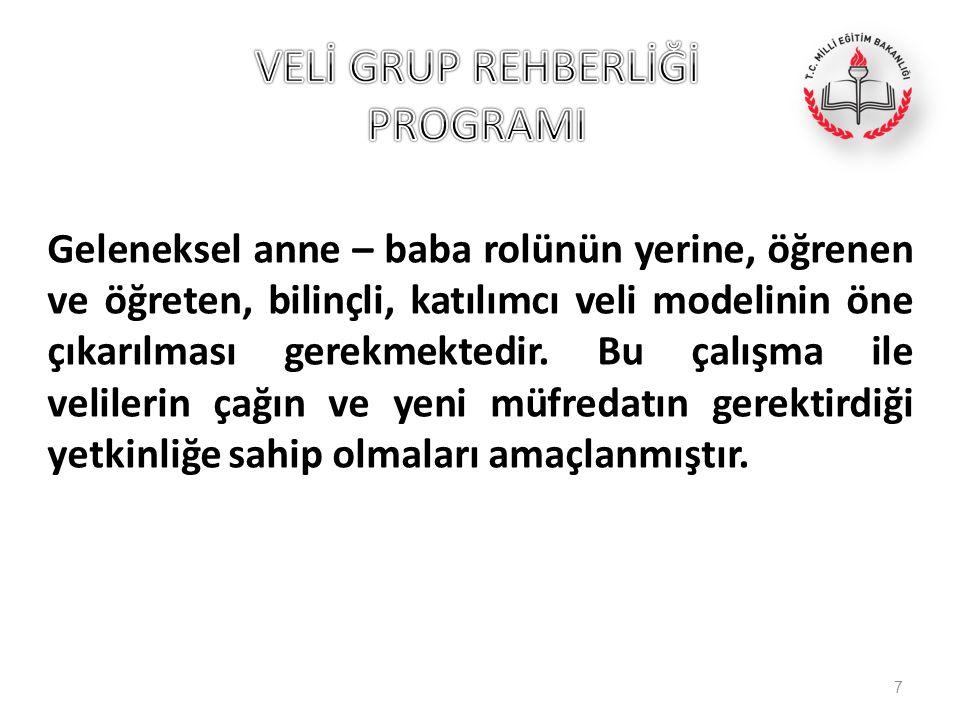 VELİ GRUP REHBERLİĞİ PROGRAMI
