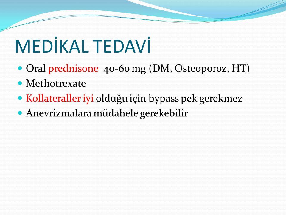 MEDİKAL TEDAVİ Oral prednisone 40-60 mg (DM, Osteoporoz, HT)