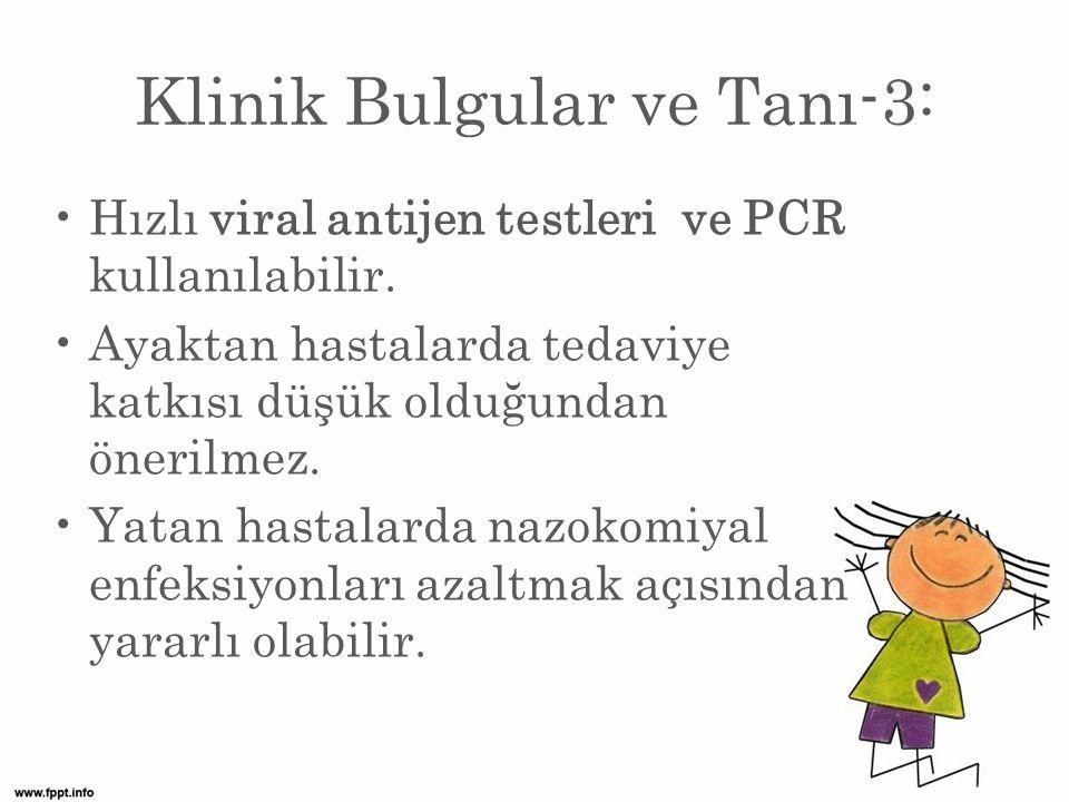 Klinik Bulgular ve Tanı-3: