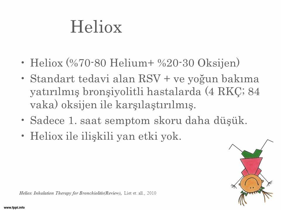 Heliox Heliox (%70-80 Helium+ %20-30 Oksijen)