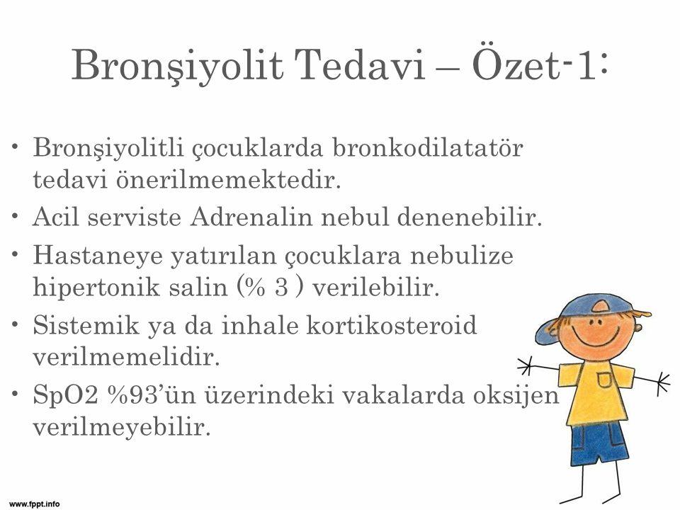 Bronşiyolit Tedavi – Özet-1: