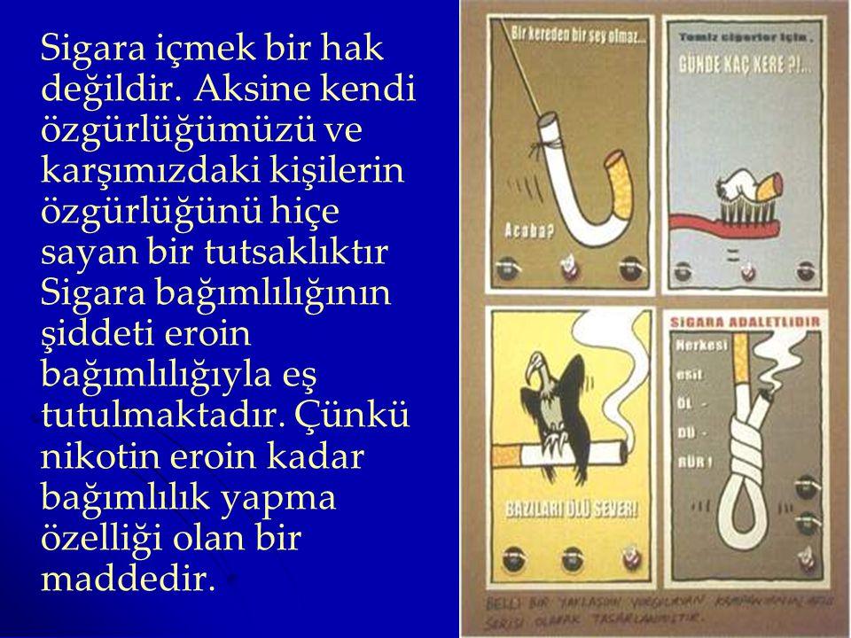 Sigara içmek bir hak değildir