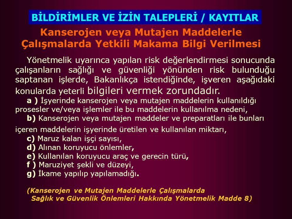 BİLDİRİMLER VE İZİN TALEPLERİ / KAYITLAR