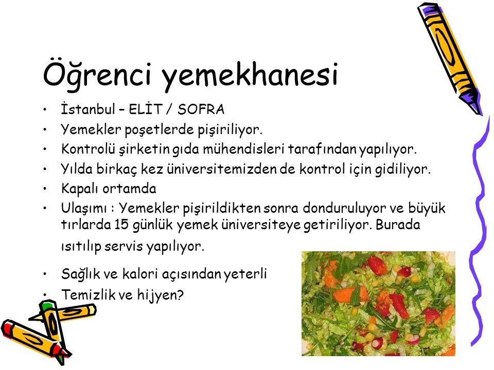 Öğrenci yemekhanesi İstanbul – ELİT / SOFRA