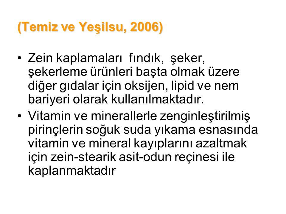 (Temiz ve Yeşilsu, 2006)