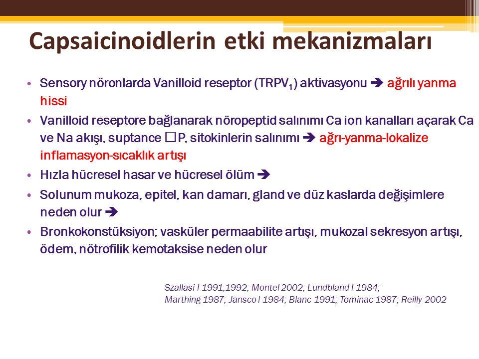Capsaicinoidlerin etki mekanizmaları