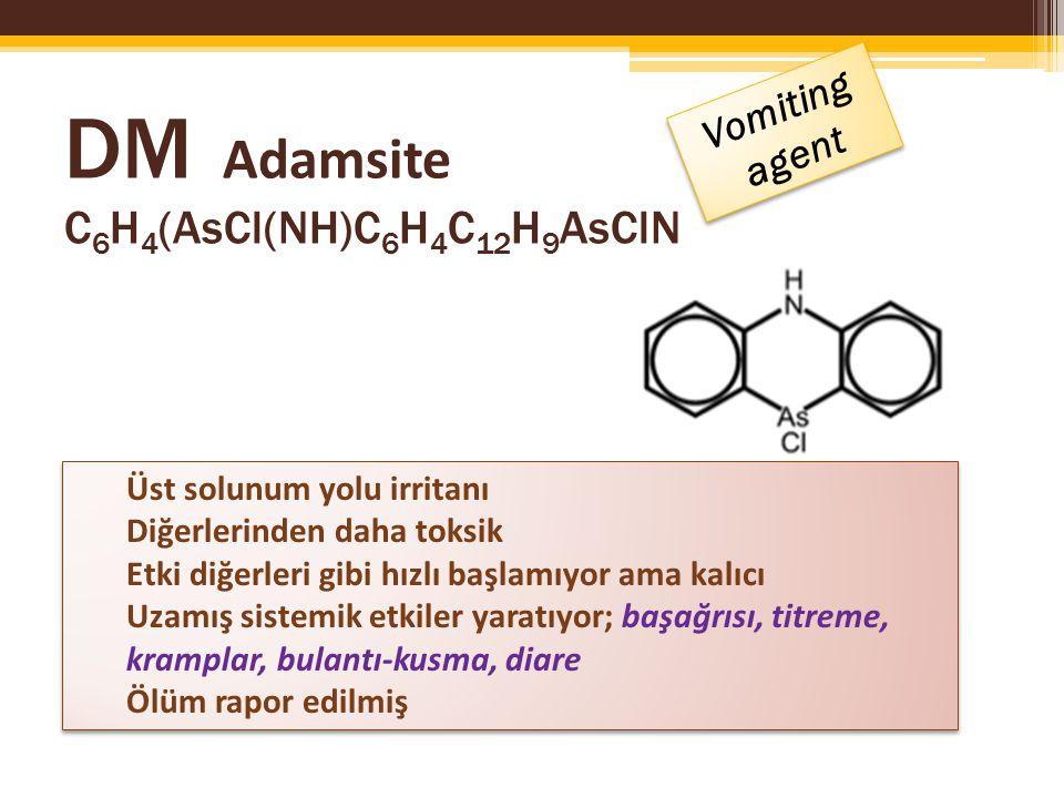 DM Adamsite C6H4(AsCl(NH)C6H4C12H9AsClN