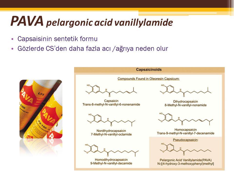 PAVA pelargonic acid vanillylamide