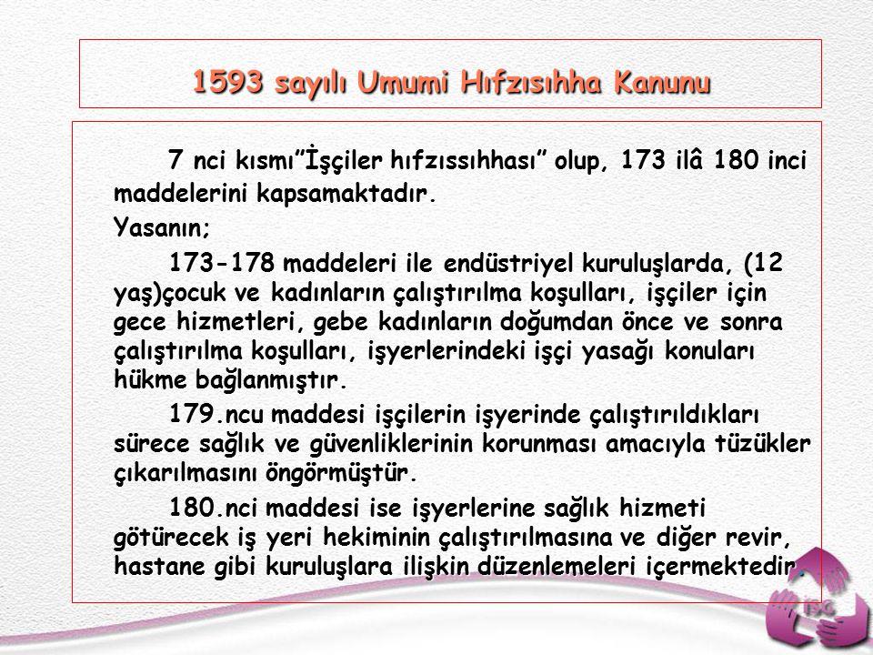 1593 sayılı Umumi Hıfzısıhha Kanunu