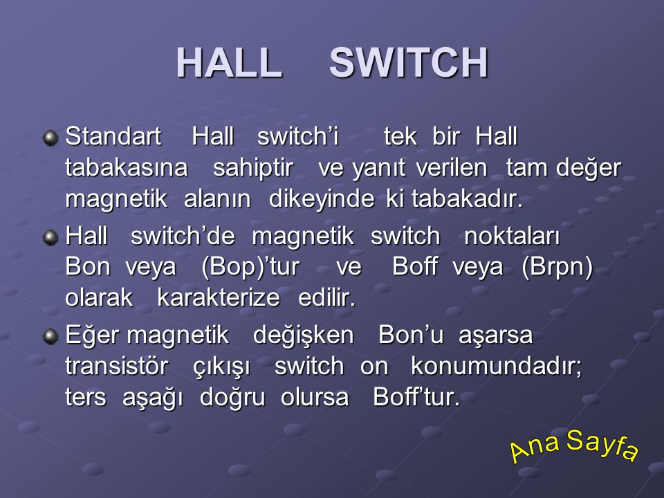 HALL SWITCH