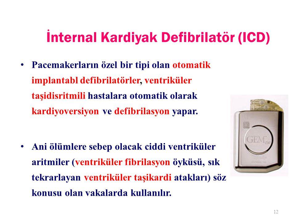 İnternal Kardiyak Defibrilatör (ICD)