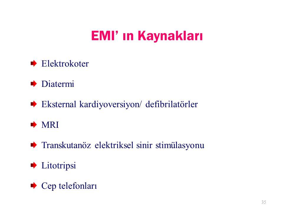 EMI' ın Kaynakları Elektrokoter Diatermi