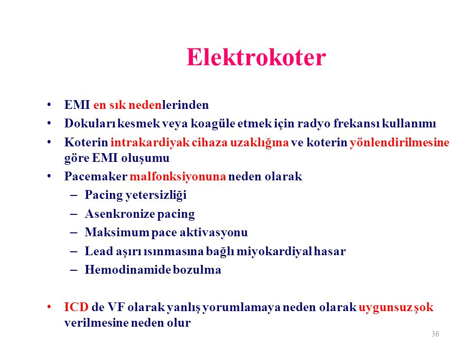 Elektrokoter EMI en sık nedenlerinden