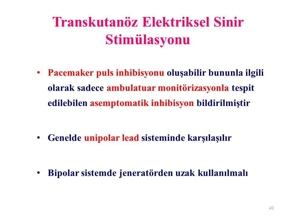 Transkutanöz Elektriksel Sinir Stimülasyonu