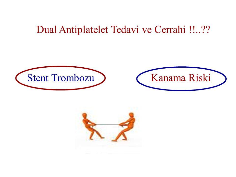 Dual Antiplatelet Tedavi ve Cerrahi !!..