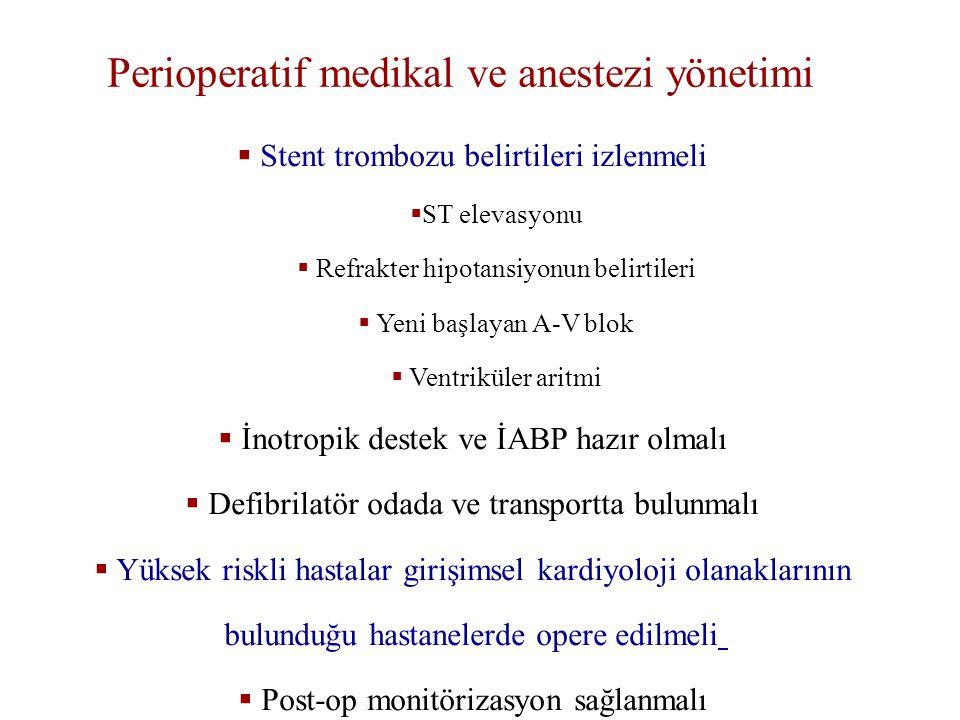Perioperatif medikal ve anestezi yönetimi