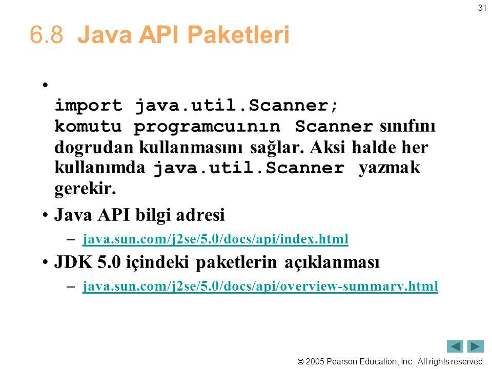 6.8 Java API Paketleri