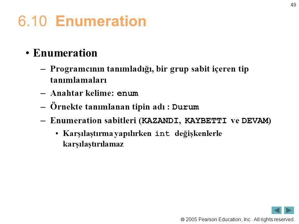 6.10 Enumeration Enumeration