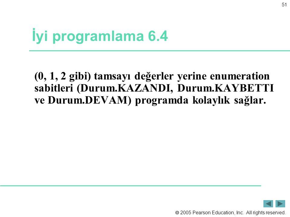 İyi programlama 6.4