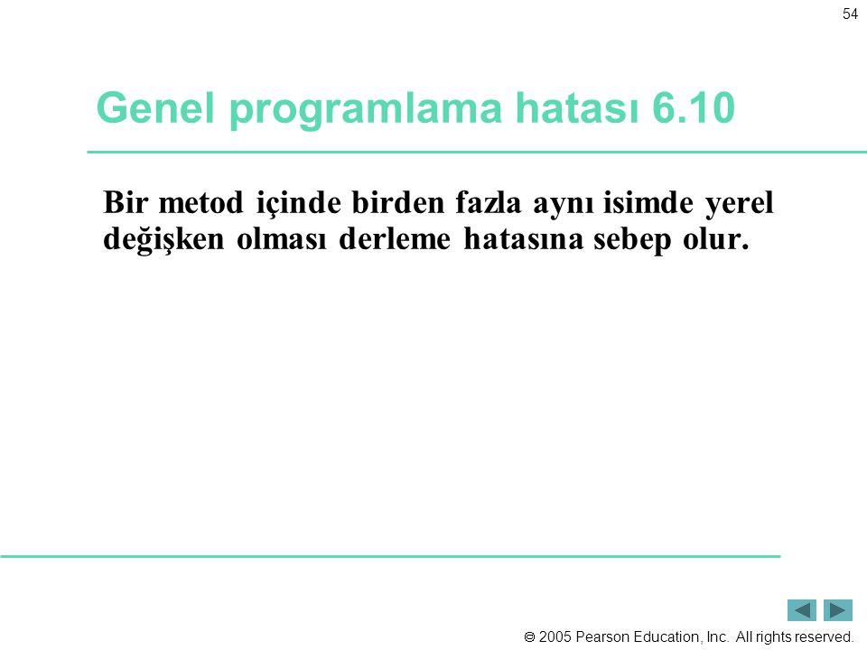 Genel programlama hatası 6.10