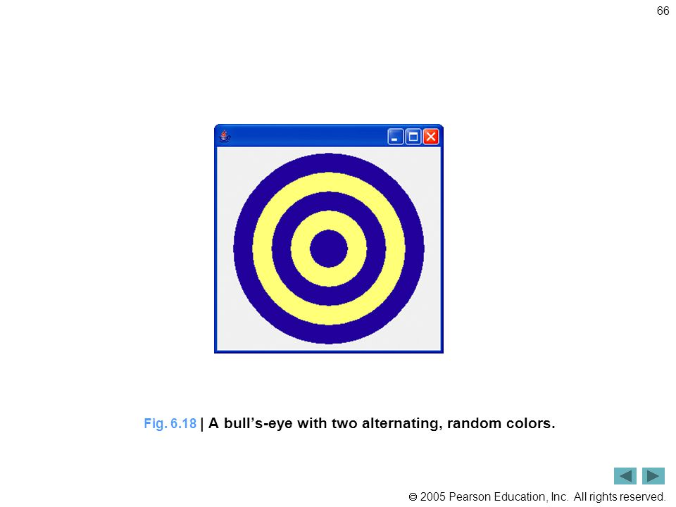 Fig. 6.18 | A bull's-eye with two alternating, random colors.