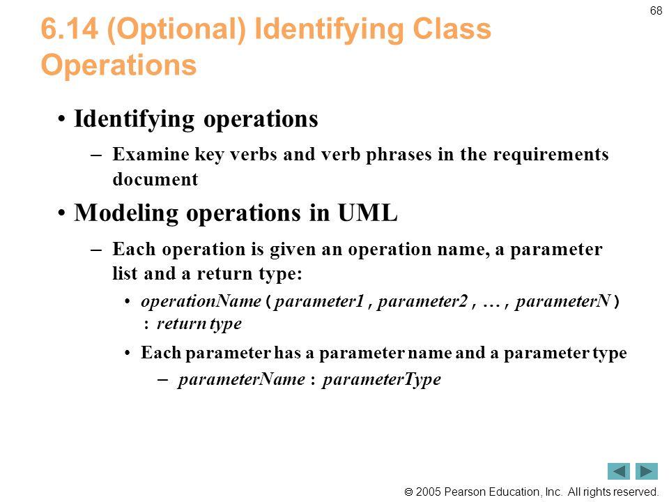 6.14 (Optional) Identifying Class Operations