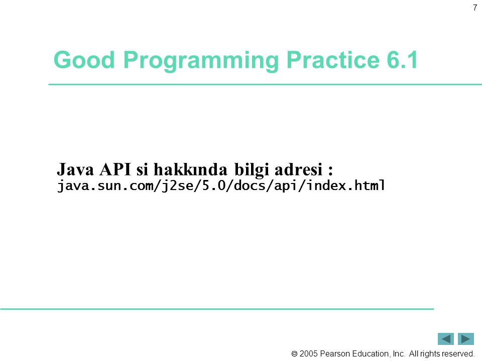 Good Programming Practice 6.1