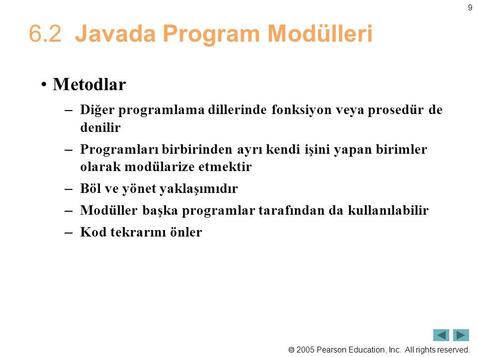 6.2 Javada Program Modülleri