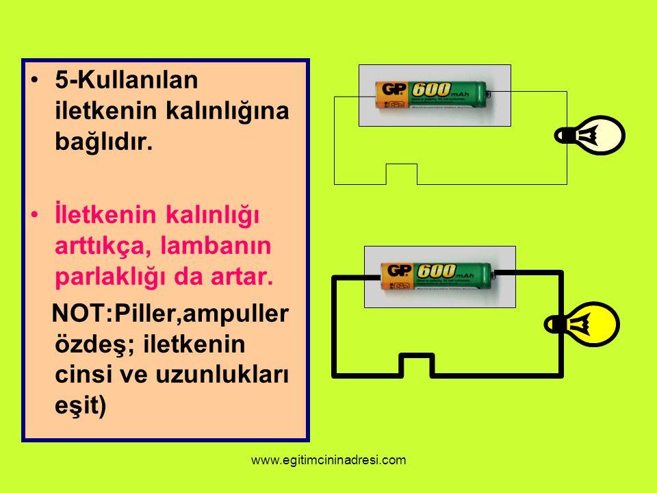 5-Kullanılan iletkenin kalınlığına bağlıdır.