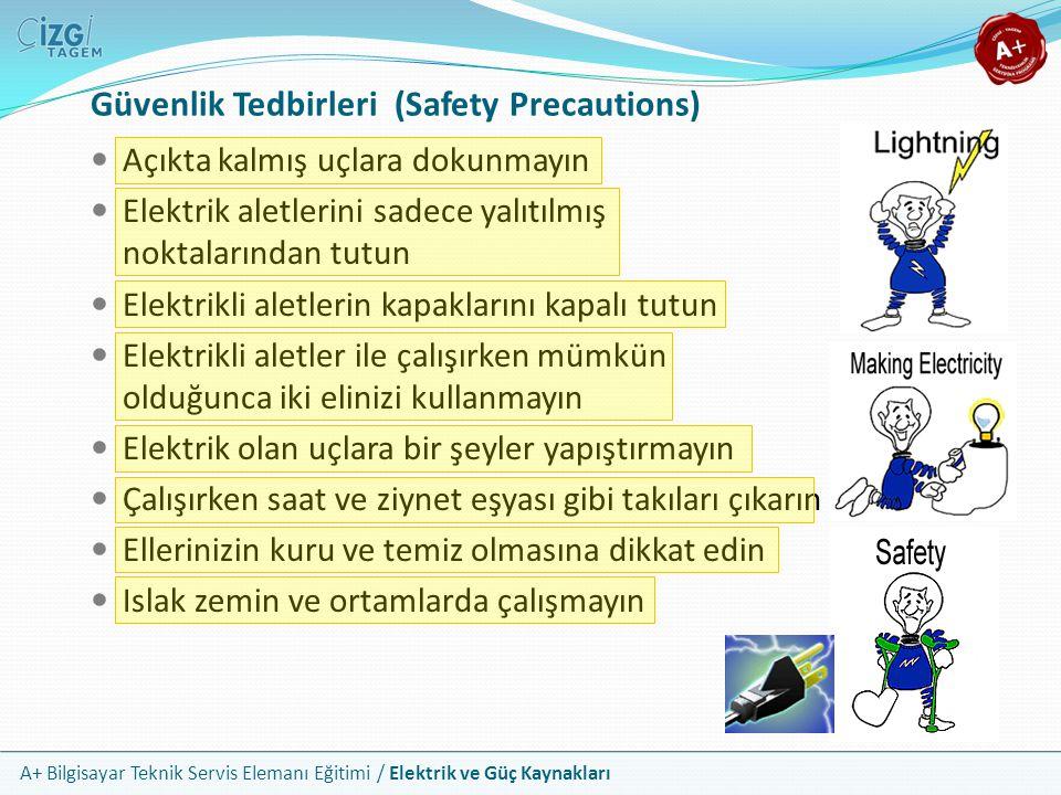 Güvenlik Tedbirleri (Safety Precautions)