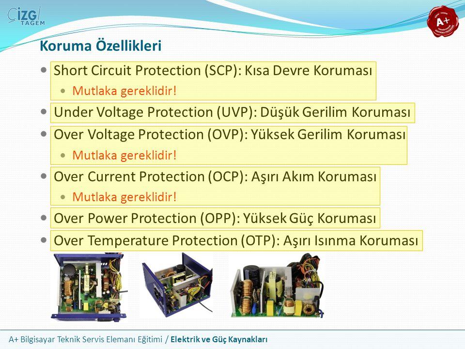 Koruma Özellikleri Short Circuit Protection (SCP): Kısa Devre Koruması