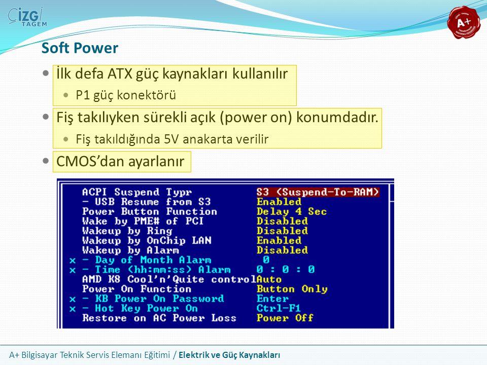 Soft Power İlk defa ATX güç kaynakları kullanılır