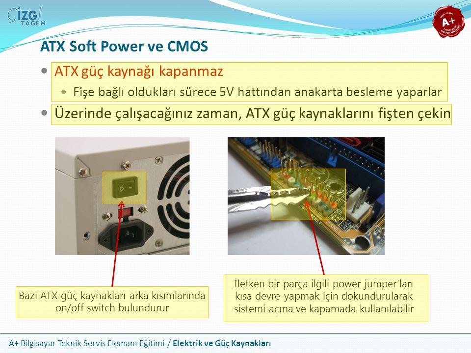 Bazı ATX güç kaynakları arka kısımlarında on/off switch bulundurur