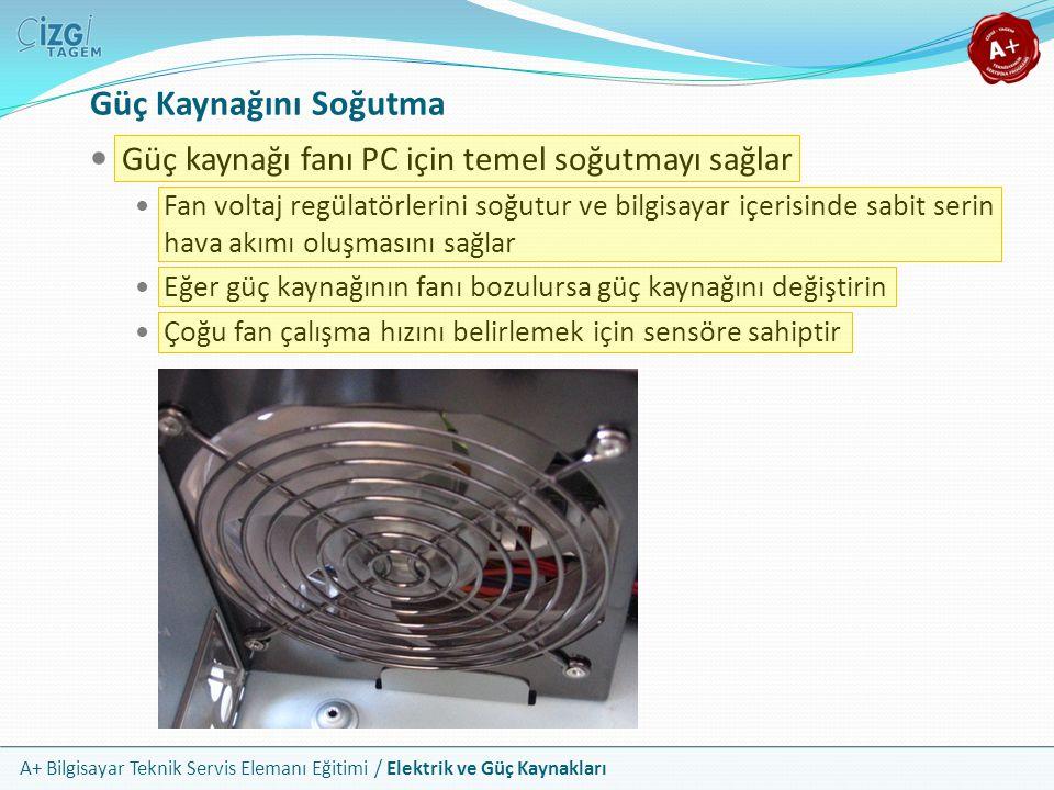 Güç Kaynağını Soğutma Güç kaynağı fanı PC için temel soğutmayı sağlar