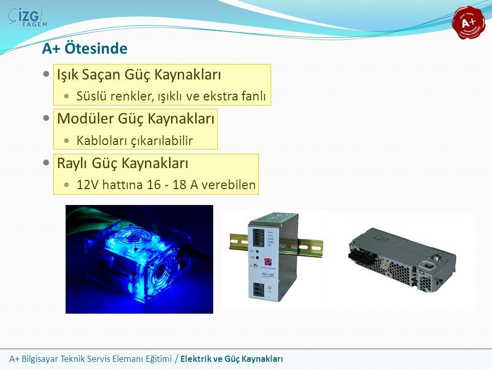 A+ Ötesinde Işık Saçan Güç Kaynakları Modüler Güç Kaynakları