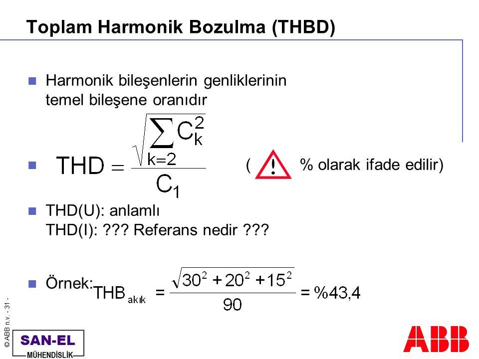 Toplam Harmonik Bozulma (THBD)