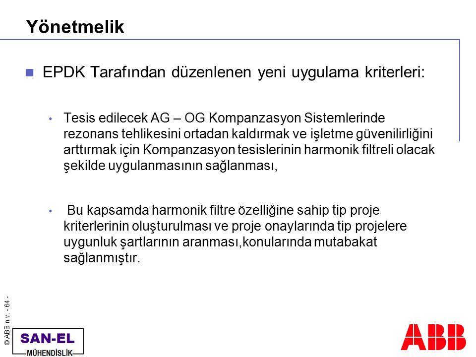 Yönetmelik EPDK Tarafından düzenlenen yeni uygulama kriterleri: