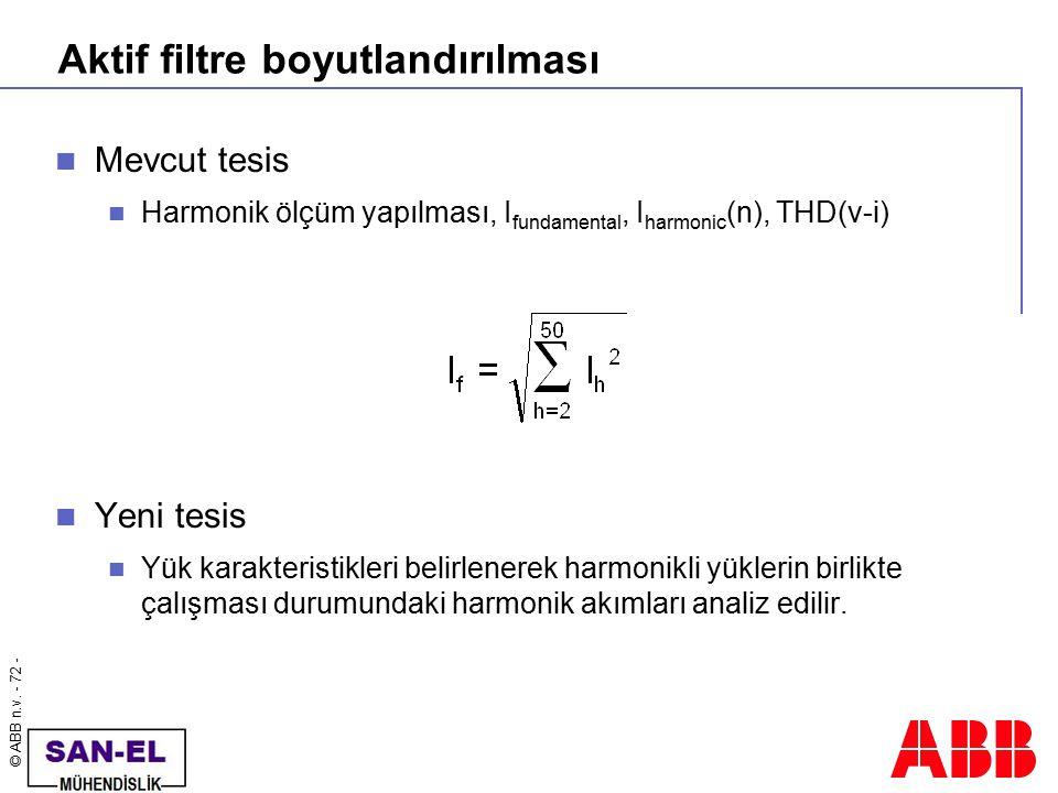 Aktif filtre boyutlandırılması