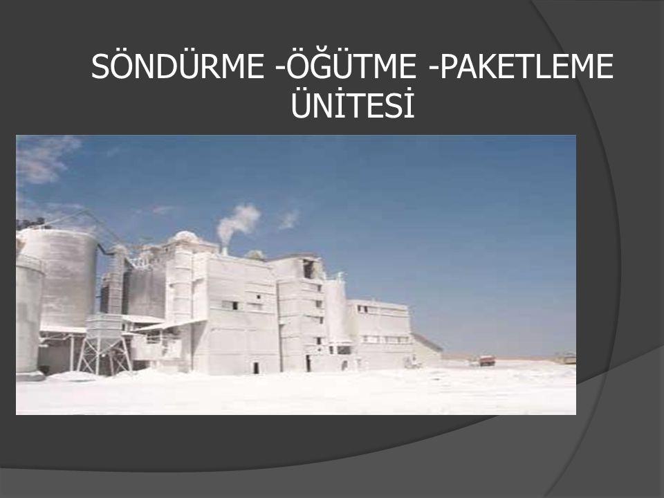 SÖNDÜRME -ÖĞÜTME -PAKETLEME ÜNİTESİ