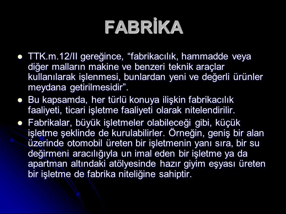 FABRİKA
