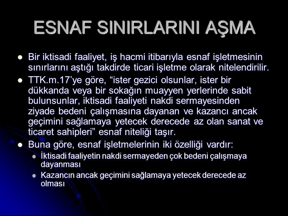 ESNAF SINIRLARINI AŞMA