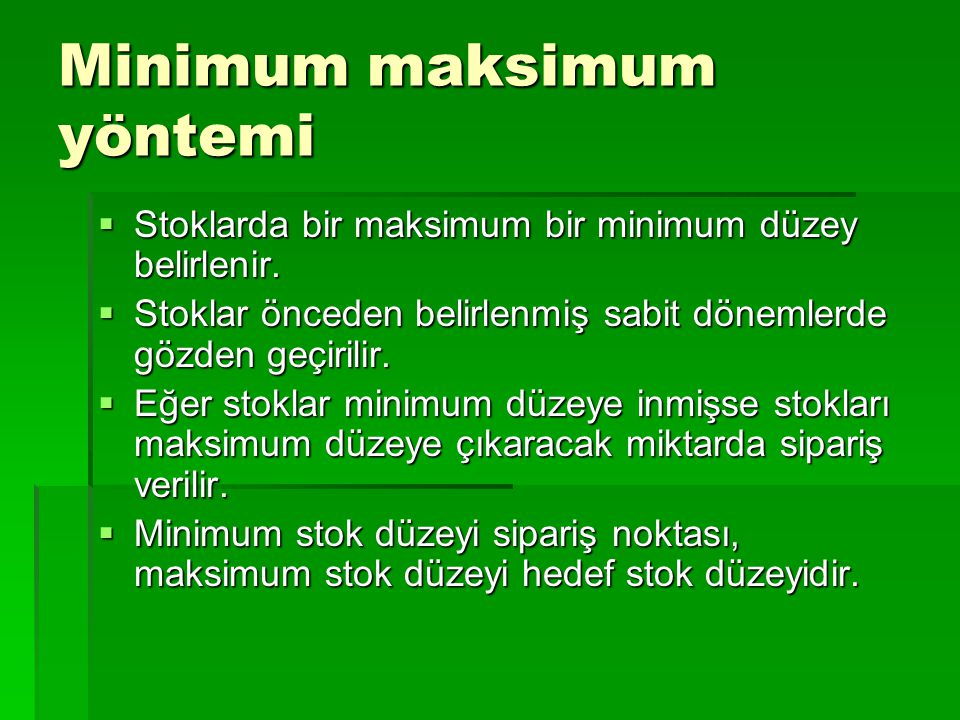 Minimum maksimum yöntemi