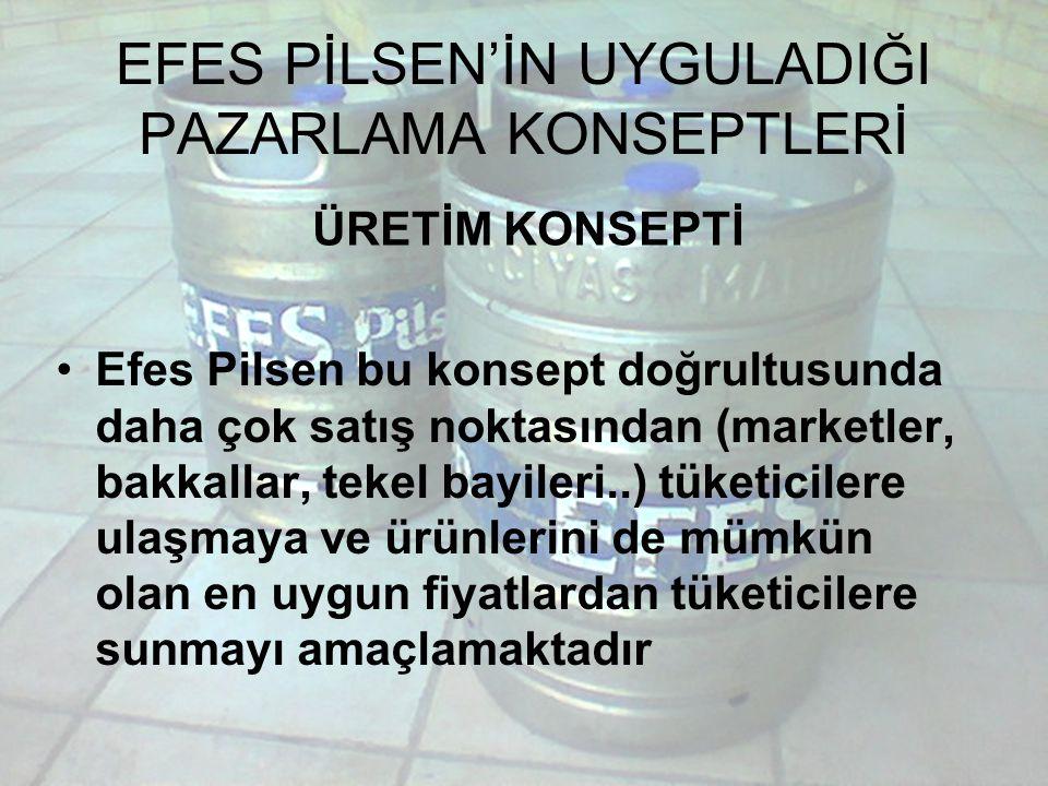 EFES PİLSEN'İN UYGULADIĞI PAZARLAMA KONSEPTLERİ