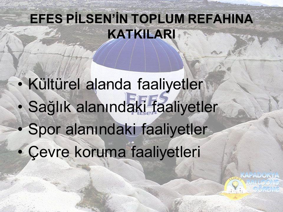 EFES PİLSEN'İN TOPLUM REFAHINA KATKILARI