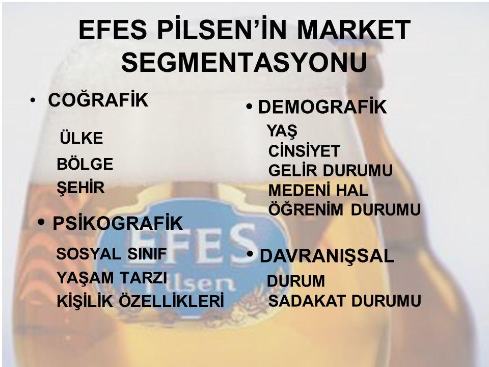 EFES PİLSEN'İN MARKET SEGMENTASYONU