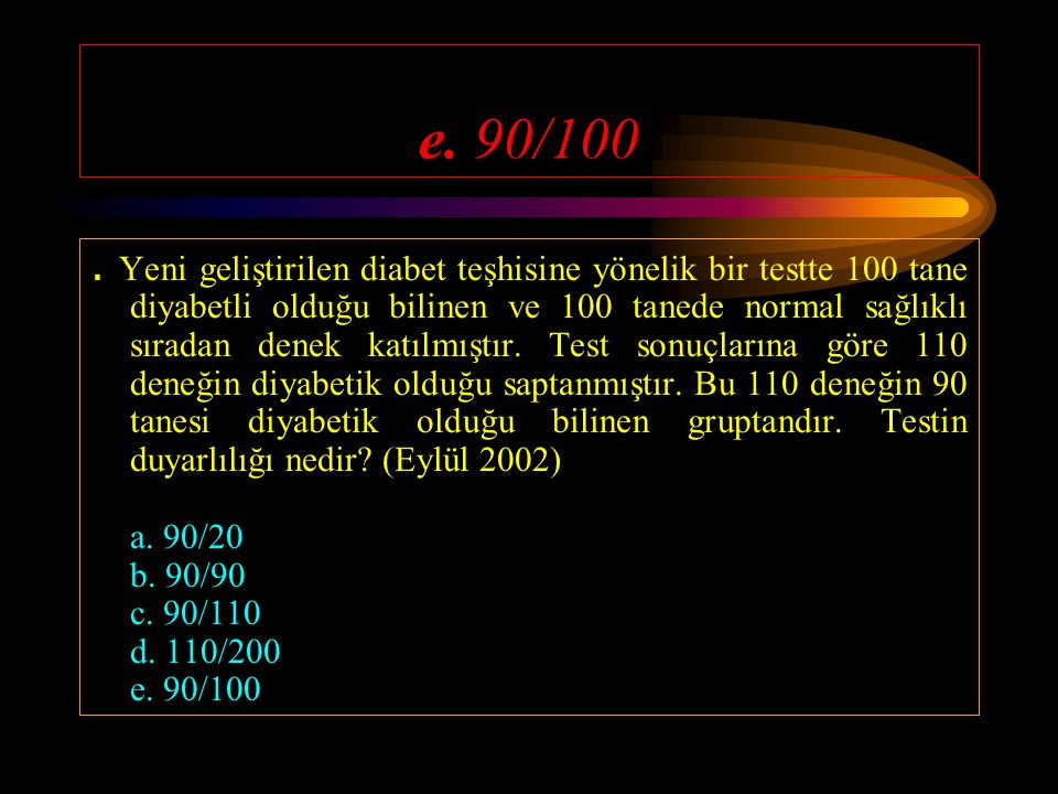 e. 90/100