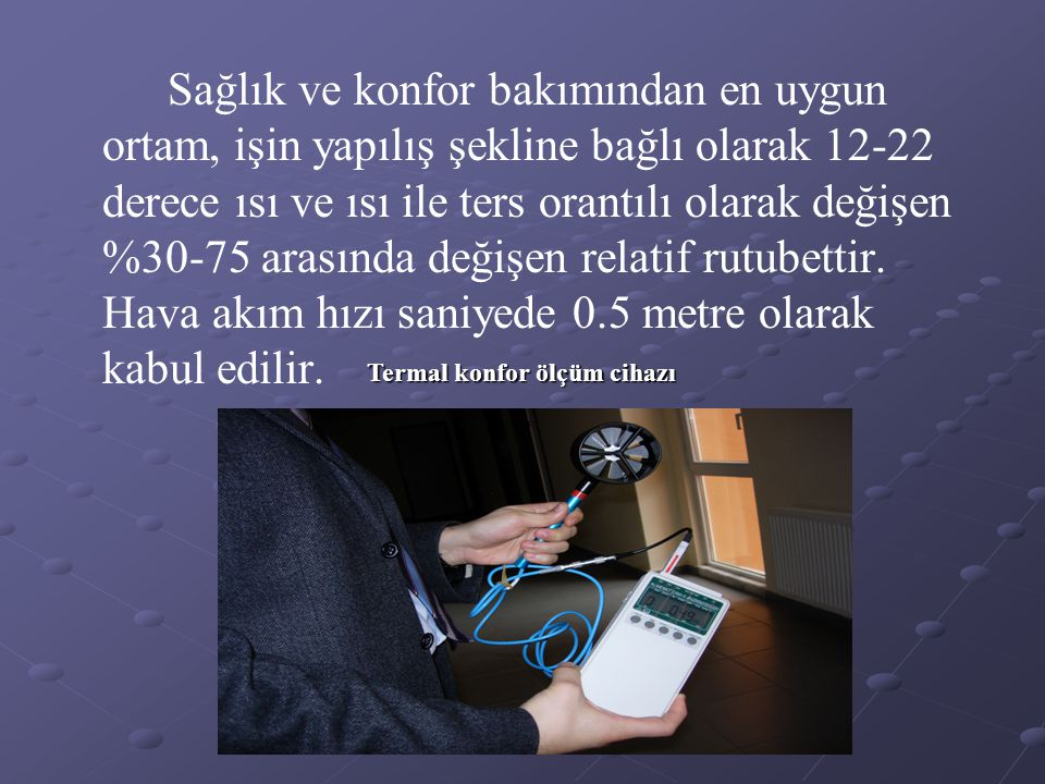 Termal konfor ölçüm cihazı