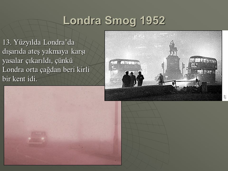 Londra Smog 1952 13.